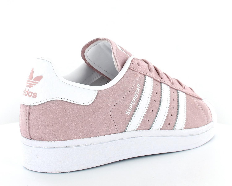 adidas superstar femme blanche et rose