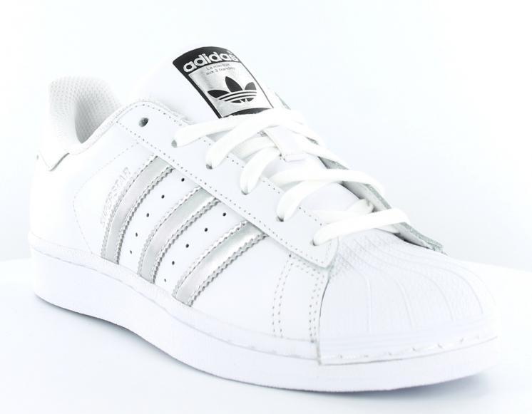 Vente sur adidas superstar blanc argent pas cher Outlet en